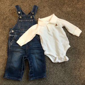Baby Gap 3-6 month overall outfit